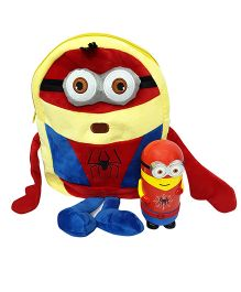 Thought Counts Super Combo Of Cartoon Character Bag & Hot & Cold Flask - Red & Yellow