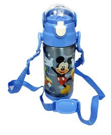 Thought Counts Cartoon Character Water Bottle - Blue
