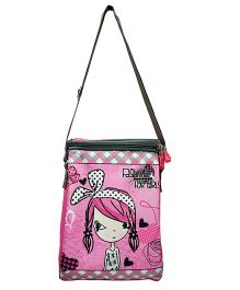 Thought Counts Fashion For Girl Print Sling Bag - Pink