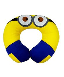 Thought Counts Cartoon Character Neck Pillow - Blue & Yellow