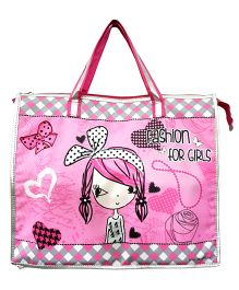 Thought Counts Carry Me Fashion For Girls Print Structured Bag - Pink