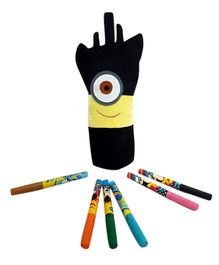 Thought Counts Cartoon Character Pencil Pouch - Black