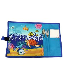 Thought Counts Sea Animal Print Table Mat - Multicolour