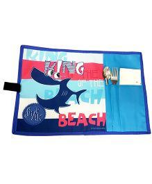 Thought Counts Shark Print Table Mat - Blue
