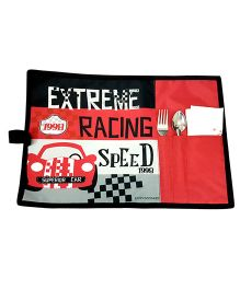 Thought Counts Racing Speed Print Table Mat - Red