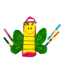 Thought Counts Butterfly Pencil Pouch - Green