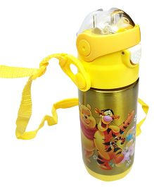 Thought Counts Cartoon Character Water Bottle - Yellow