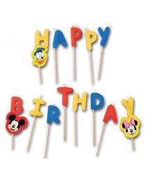 Mickey & Friends Happy Birthday Toothpick Candles - Pack Of 13