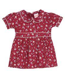 FS Mini Klub Half Sleeves Floral Dress - Red