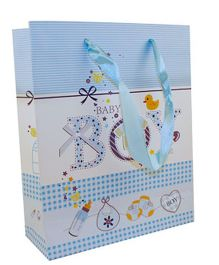Partymanao Baby Print Paper Bag - Blue