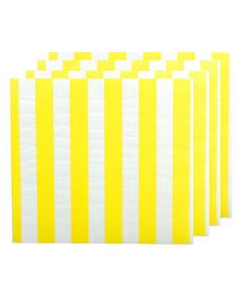 Partymanao Striped Napkin Yellow - Pack of 20