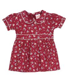 FS Mini Klub Half Sleeves Floral Dress - Red