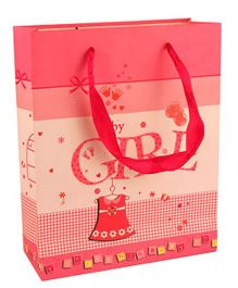 Partymanao Baby Print Paper Bag - Red