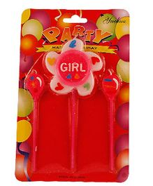 Partymanao 2 Balloon And 1 Star Shaped Candle - Red