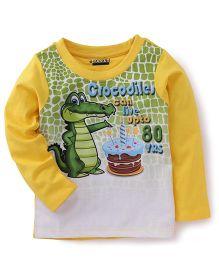 E-Todzz Full Sleeves T-Shirt Crocodile - Yellow