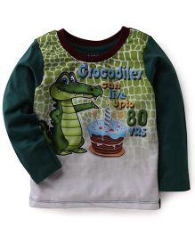 E-Todzz Full Sleeves T-Shirt Crocodile - Green