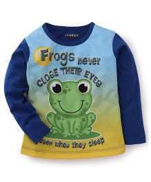 E-Todzz Full Sleeves T-Shirt Frog Print - Royal Blue