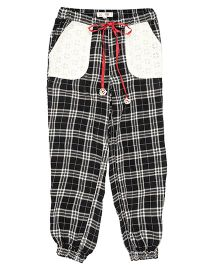 My Lil'Berry Checks Pyjama With Schfilli Patch Pockets - Black