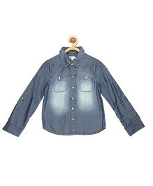 My Lil Berry Full Sleeves Denim Shirt - Blue