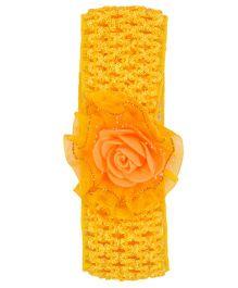 Miss Diva Flower On Net Soft Headband - Yellow