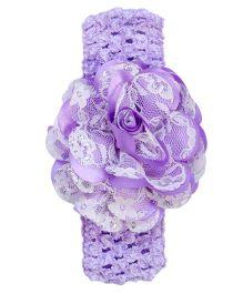 Miss Diva Elegant Flower Soft Headband - Purple