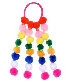 Miss Diva Pom Pom Colorful Rubberband - Multicolour
