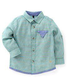 UCB Full Sleeves Stripes Shirt - Sea Green