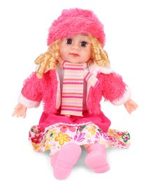 Smiles Creation Doll In Jacket Stripes Print Pink - 54 cm