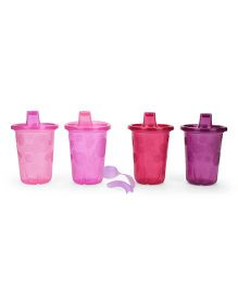 The First Years Take & Toss Spill Proof Sippy Cup Pack Of 4 Pink - 296 ml