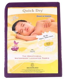Quick Dry Bed Protector Extra Large- Plum