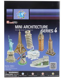 CubicFun Mini Architecture Series 4 3D Puzzle - 72 Pieces