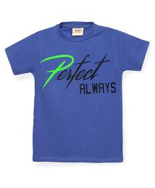 Tonyboy Boys Perfect Always Printed T-Shirt - Blue