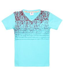 Tonyboy Boys Trendy Printed T-Shirt - Aqua
