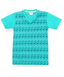 Tonyboy Boys Trendy Printed T-Shirt - Arctic Blue