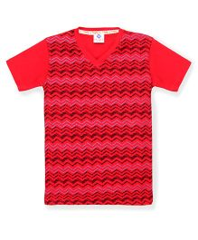Tonyboy Boys Trendy Printed T-Shirt - Red