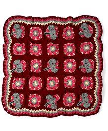 Mayra Knits Hathi Mera Sathi Blanket - Multicolor