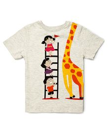 The Lion And The Fish Giraffe Tee - Off White