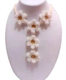 SYN Kidz Designer Crochet Neckpiece - White