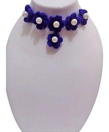 SYN Kidz Designer Crochet Choker Neckpiece - Blue