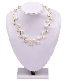 Carolz Jewelry Acrylic Flower Floating Chain & Earring Set - White