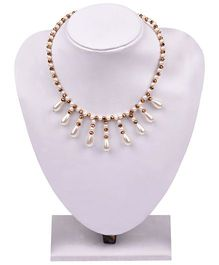 Carolz Jewelry Acrylic Pearl Drop Chain Set - White