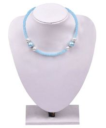 Carolz Jewelry Crystal Chain & Earring Set - Blue