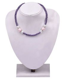 Carolz Jewelry Crystal Chain & Earring Set - Purple