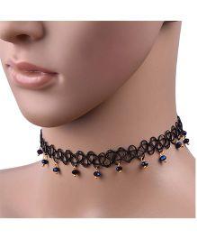 Carolz Jewelry Elastic Choker Chain - Blue