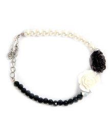 Carolz Jewelry Crystal & Pearl Bracelet - Black