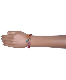 Carolz Jewelry Acrylic Floating Butterfly Bracelet - Multicolour