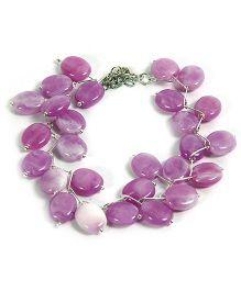Carolz Jewelry Acrylic Floating Bracelet - Purple