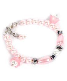 Carolz Jewelry Pearl Flower Bracelet - Pink