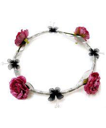 Carolz Jewelry Flower & Butterfly Tiara - Wine Purple