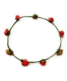 Carolz Jewelry Paper Roses Tiara - Red